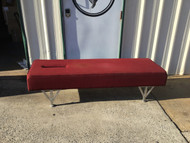 Lloyd  Gonstead  Bench with Face Slot -Burgundy Cloth Upholstery- Adjustable height legs