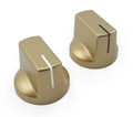 Pointer Knobs w/ Index - Gold