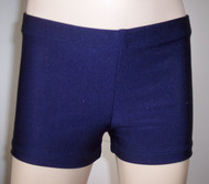 Perfectly priced navy blue spandex gymnastics and/or dance shorts.