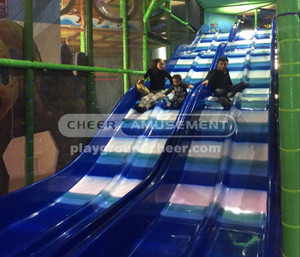 Challenge Courses Equipment Themed Wave Slide Indoor Play Equipment