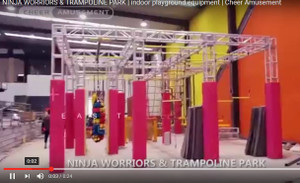 Cheer Amusement Ninja Courses Trampoline Park Combo | Indoor Play Equipment | Cheer Amusement