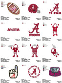 27 University of Alabama Crimson Tide Football Embroidery Designs