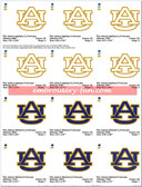 Auburn University Alabama Tigers Football Logo Embroidery Designs