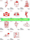 BABY REDWORK CUTE COLLECTION EMBROIDERY DESIGNS