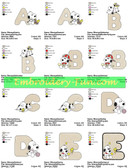 BABY SNOOPY PEANUTS ALPHABETS EMBROIDERY DESIGNS