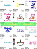 BABY TODDLER SAYINGS EMBROIDERY DESIGNS - DOWNLOAD