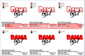 Bama Girl University of Alabama Logo Embroidery Designs