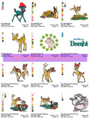 BAMBI DISNEY NEW Machine Embroidery Designs