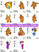 Bear in the Big Blue House Embroidery Designs