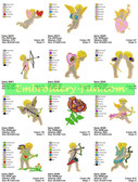 CUPID LOVE EMBROIDERY DESIGNS