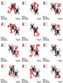 DOWNLOAD SPIDER FONTS MACHINE EMBROIDERY DESIGNS