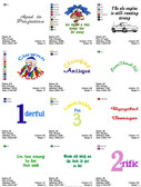 DOWNLOAD TODDLER SAYINGS  EMBROIDERY DESIGNS