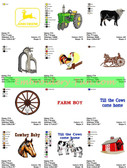 FARM TRACTOR ANIMALS COUNTRY EMBROIDERY DESIGNS DOWNLOAD