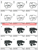 Kansas State Wildcats K-STATE KSU EMBROIDERY MACHINE DESIGNS DOWNLOAD
