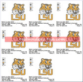 LSU TIGERS LOUISIANA STATE UNIVERSITY LOGO MACHINE EMBROIDERY DESIGNS