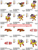 MIGHTY MOUSE EMBROIDERY DESIGNS