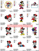 Minnie Mouse NEW DISNEY Machine Embroidery Designs