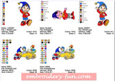 NODDY Character Machine Embroidery Designs Patterns
