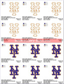 NY NEW YORK METS LOGO MACHINE EMBROIDERY DESIGNS