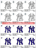 NY YANKEES NEW YORK BASEBALL SPORTS LOGO MACHINE EMBROIDERY DESIGNS