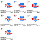 Phillies Bell MLB SPORTS LOGO EMBROIDERY DESIGNS