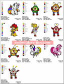 RAINBOW BRITE EMBROIDERY DESIGNS