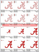 University of Alabama Crimson Tide Applique & Stitched Embroidery Designs