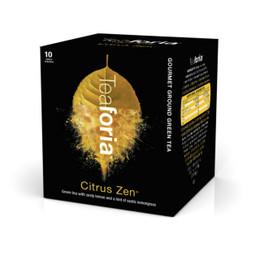 Citrus Zen Green Tea 10 Single Serve Sachets