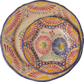 Fluted Plate - Corbeille Rose
