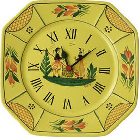 Octagonal Wall Clock - Soleil Yellow