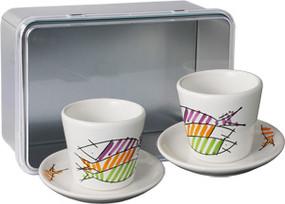 Espresso Cups Gift Box Set - Happy Fish