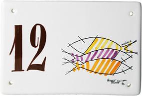 Door Plate - Decor Happy Fish