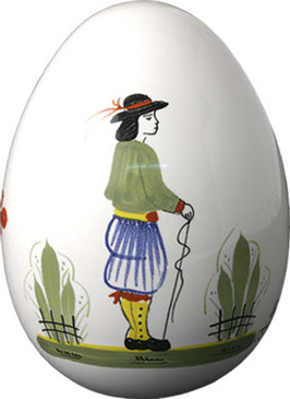 Decorative Egg - Man - Henriot