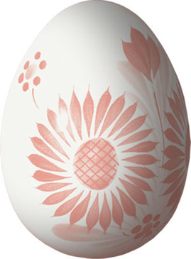 Decorative Egg - Camaieu Pink