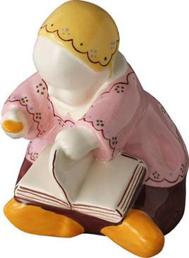 Baby with Book Pink Dress - Berthe Savigny
