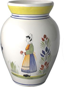 quimper bud vase henriot. Black Bedroom Furniture Sets. Home Design Ideas