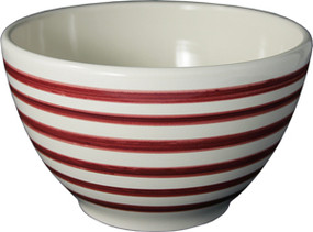 Parisian Bowl - Breton Stripes Red