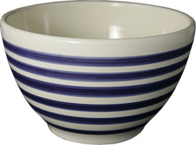 Parisian Bowl - Breton Stripes Blue