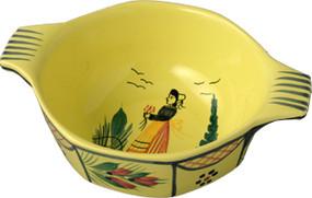 Octagonal Lug Bowl - Soleil Yellow