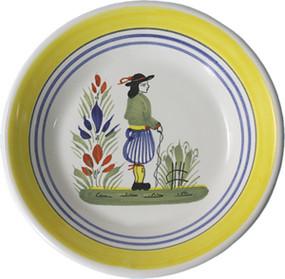 Miniature Plate - Man - Henriot
