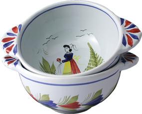 Breton Lug Bowl - Mistral Blue