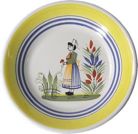 Miniature Plate - Woman - Henriot