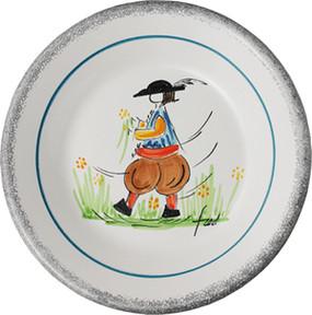 Miniature Plate - Man - Fred Quellac