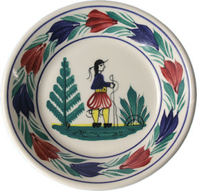 Miniature Plate - Man - Campagne