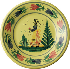 Miniature Plate - Soleil Yellow - Woman
