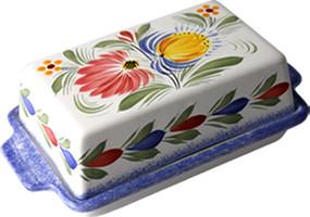 Covered Butter Dish - Fleuri Royal