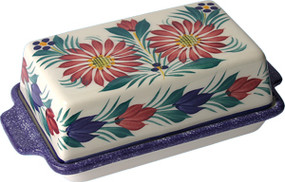 Covered Butter Dish - Fleuri