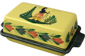 Covered Butter Dish - Soleil Yellow