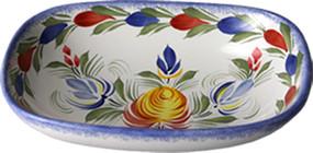 Open Butter Dish/ Soap Dish - Fleuri Royal