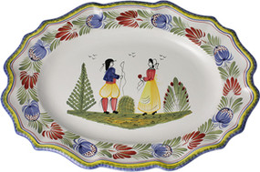 Large Scalloped Platter - Tradition